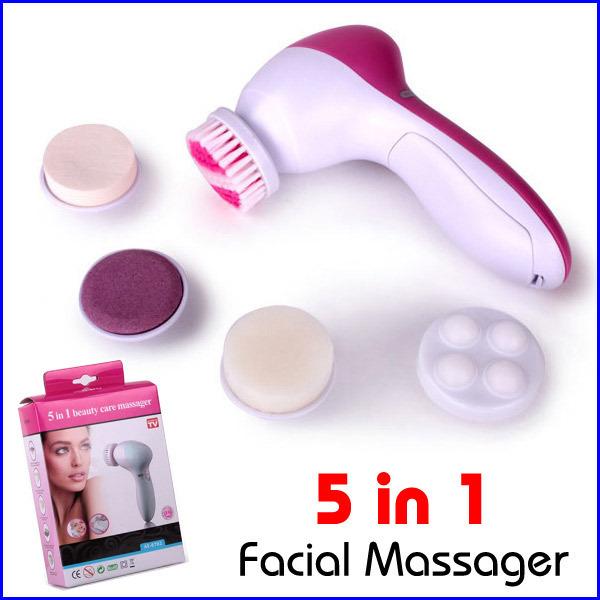 5 em 1 elétricos de lavagem máquina face poros facial corpo limpador limpeza massagem mini-pele massager da beleza escova(China (Mainland))