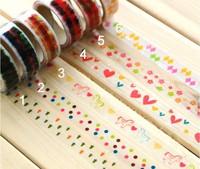 Freeshipping! Vintage  Multicolor small size Chilwashi  Masking Tapes / adhesive tape / DIY sticker label /wholesale