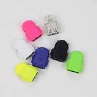 Android Robot Micro USB OTG Cable Adapter for Samsung Galaxy S2 S3 S4 Note LG Xiaomi HTC Sony Smartphone Tablet PC Mobile Phone