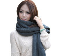 Women New Fashion Solid Multi Color Black White Beige Knitted Adult Autumn Winter Spring Shawl Scarves Scrafts Bufandas 1SC881