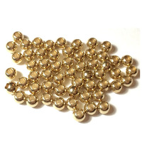 Free shipping Metal Brass Smooth Round  Bead 5x4.5mm w/1.6mm&2.4mm holes