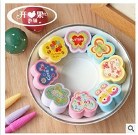 Free Shipping 48 pcs/1set  New Cute  EVA Butterfly quality diy wooden rubber stamp /funny gift/diy stamp / 8 designs