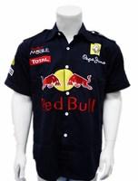 2014 Dark blue cotton short sleeve shirt racing shirt, formula one racing shirt, nascar racing shirt