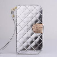 High quality shiny leather wallet case for Samsung Galaxy S3 I9300