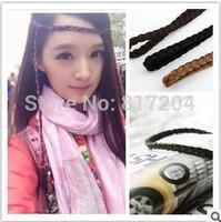 Women's Hot Synthetic Hairband Plait Elastic Bohemia Braids Headwear Hair Accessories Acessorios Free Shipping x085-1