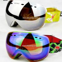 Free shipping frameless ski goggles cross country skiing spherical snowboard glasses snow gafas de snowmobile masks night vision