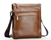 2014 Real Promotion Zefer Fashion Messenger Shoulder Bags Men Genuine Leather Zipper Briefcase Casual Male Bag