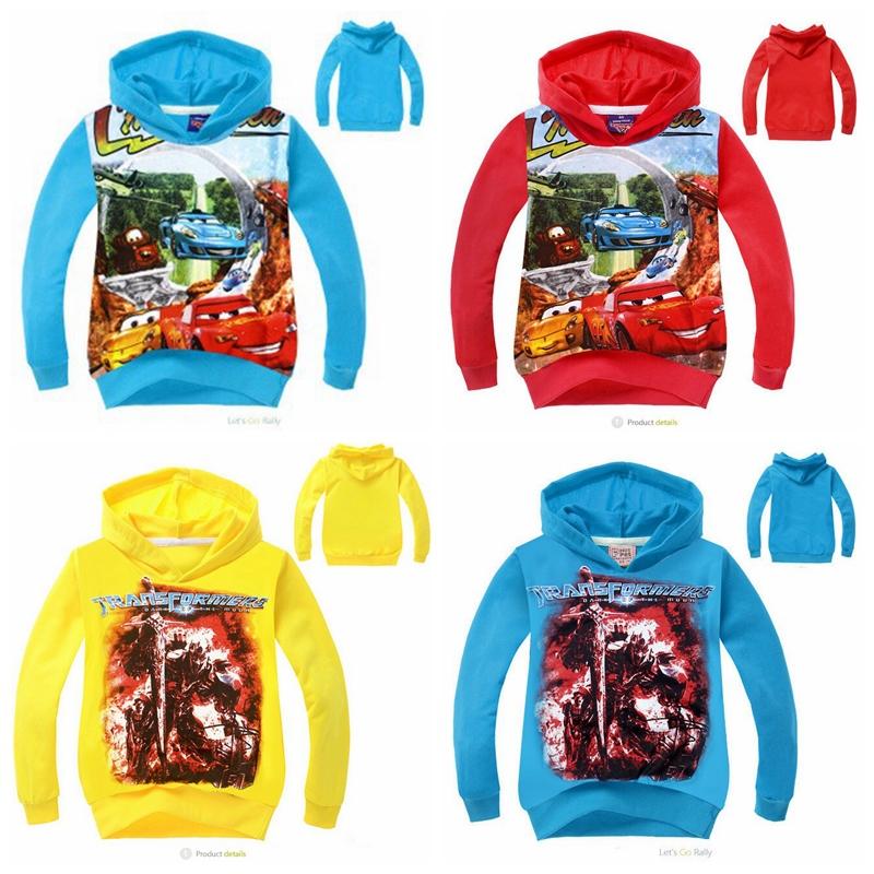 miúdos novos carros cartoon hoodies design meninos outono manga longa infantil camisolas terry hoody lazer vestuário em estoque(China (Mainland))