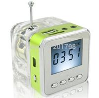 30PCS Original NIZHI TT028 FM Radio Mini Speaker Portable Micro SD / TF Music MP3 Player Sound Box LCD Screen Free Shipping