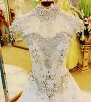 2014 wedding bandage tube top train wedding dress bride xj60453