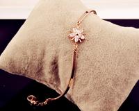 2014 new fashion elegant lady temperament exquisite personalized retro flower pentacle Super Flash zircon bracelet  S6029