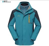 Auturnn Waterproof jackts Climbing Skiing Outdoor sports clothing Mauntaineering Jackts Removable fleece Liner 16061
