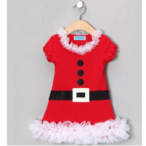 Brand new 2014 Christmas Baby Kids Girls Princess dress Flower Lace Belt Flounced red dress girl's clothes(China (Mainland))