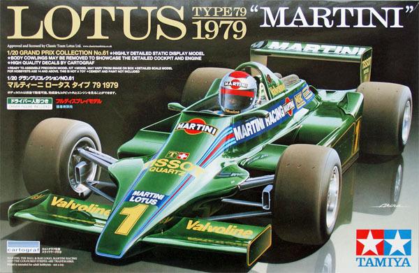 Tamiya 20061 1/20 Grand Prix Lotus Type 79 1979 Martini Plastic Model Kit Free Shipping(China (Mainland))
