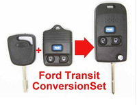 Replacement 3 Button Remote Key Shell Case FOB Conversion Folding Type KIT For Ford Transit Transit Connect