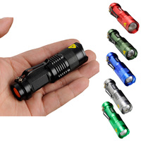2014 New SIPIK SK68 Cree Q5-WC Stainless Steel LED Flashlight Torch Light Outdooring Lighting 6 Colors Available SK68