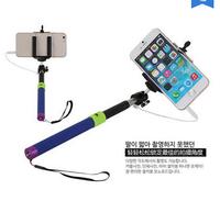 Portable Handheld Telescopic Extendible Monopod Cellphone Photo wired Self Autodyne Tripod For iPhone Samsung htc