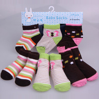 12 pieces/lot Newborn Baby Socks With Animal Style Baby Boys Socks Baby Girls Socks Outdoor Shoes Socks Baby Anti slip Winter