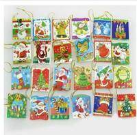 M121 gift christmas tree decoration wish cards Christmas greeting card