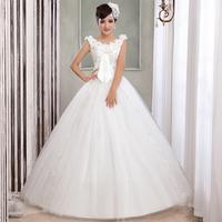 The new crystal flower bag shoulder wedding dress sell like hot cakes Han edition is sweet belt type 2014 princess wedding dress