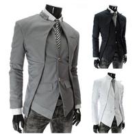 Hot Sales!!!Autumn and winter fashion plus size asymmetric suit jacket MC012