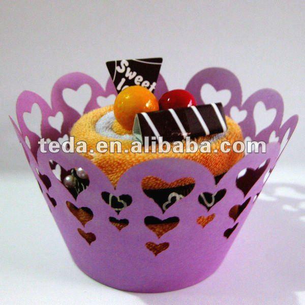 Heart Swirl Filigree Cupcake Wrapper(China (Mainland))