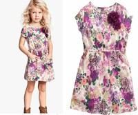 2014 New Summer Fashion Print Baby Girls Dress Bohemia Princess Girls Dresses 6 pcs / lot 1362