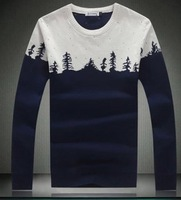 2014 men's autumn and winter  long sleeve sweater man's fashion slim o-neck sweater