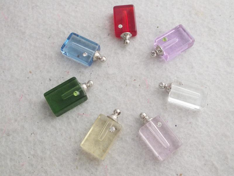 Grátis frete em massa 100 pçs/lote cristal Perfume pingente frascos de arroz encantos A-2756(China (Mainland))