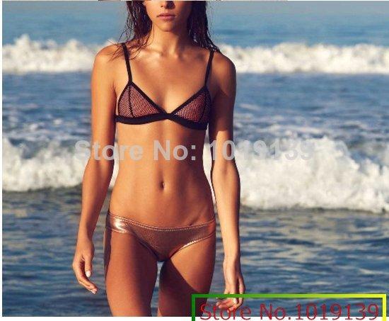 Comprar um obter um óculos de sol de graça! Novo 2014 Neoprene biquíni swimwear set triangl biquíni neoprene Vintage Beach Wear Frete Grátis(China (Mainland))