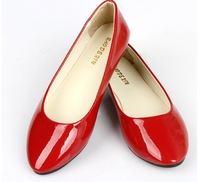 Korean women's shoe pointed flat candy color flat with patent leather shoes for pregnant women flats size 35-41 s1014