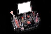 New Arrive MF-B003 Clear Acrylic Cosmetics Case Shelves Display Rack Jewelry Storage