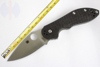 HK Free shipping 61HRC NEW Spyderco C172 CTS-XHP Steel Survival Knife Folding Knife Handle material titanium +carbon fiber