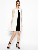2014 New fashion OL woman dress  formal round neck chiffon dress work brief for women hot sale high level brand quality