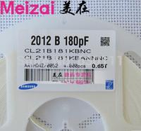 New original 1000PCS 0805 180PF 180P 10% X7R 50V chip SMD Ceramic capacitor