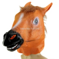 D19 newest 2014 Halloween New Horse Head Mask Animal Costume Prop Gangnam Style Toys Party  Free Shipping
