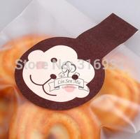 E2 Christmas coffee Monkey animal design paper seal sealing sticker baking package cake box decoration 150pcs/lot