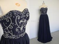 Long Sexy Chiffon Wedding Chiffon Prom Party Dress Bridesmaid Dress 2014 Cheap Stock Dresses