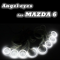 8 PCS CCFL ANGEL EYES HALO RINGS & INVERTERS 03-07 MAZDA 6 HEADLIGHTS WHITE BLUE YELLOW RED