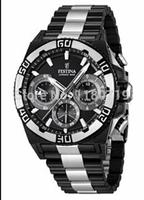 Men's Chrono Bike Black Dial Black Steel Quartz Watch F16660/1