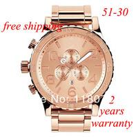 free shipping New CHRONO NIXO 51-30 Chrono in All Rose Gold Watch A083-897 Watch original brand