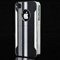 500pcs/Lot Deluxe Chrome Aluminium Case Cover for iPhone 4  4S 4th
