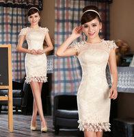 New design party dresses white elgent women dress bodycon lace dress fashion design