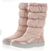 Flats Snow Boats Winter Boots New 2014 Brand Hot-Sale Waterproof Women's Shoes Japanned Plush Big Plus Size 35-42