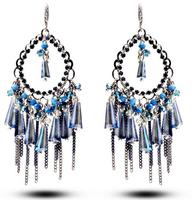 TIANSHE 2014 new brand handemade luxury austrian crystal beads bohemiacrystal dangle earrings drop long tassels for women,010