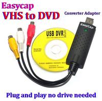 100pcs/lot* New USB 2.0 Easycap dc60 Tv dvd to vhs Converter video Capture adapter card Audio AV for vista win8 win7 XP Fast 008