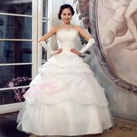 2012 wedding formal dress princess tube top wedding dress classic wedding qi winter Wedding Dresses