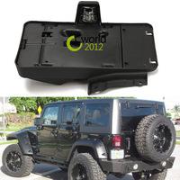 US/CA Black Rear License Plate Tail License Mounting Holder Brack With 12V Light Lamp For Jeep Wrangler JK Unlimited 07~14