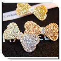 hairpinHappyBaby 3 Colors Super Shinning Crystal Noble hair pins CZ Diamond Hairpin Dair Grip Grace Rhinestone Girlfriend Gift D