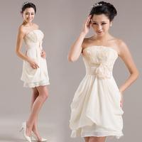 Dress bridesmaid bride married short formal dress sweet dress lf102